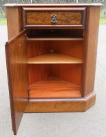 Walnut Standing Low Corner Cupboard
